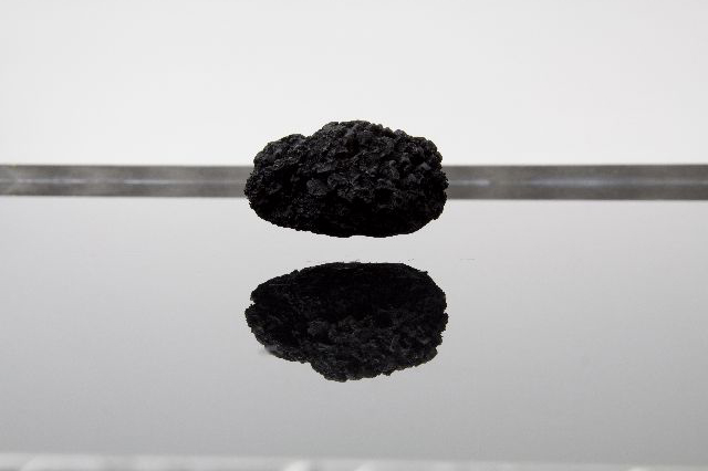 [Electromagnetic levitation fields, sponges, aluminium, water, linoleum, variable dimensions.]