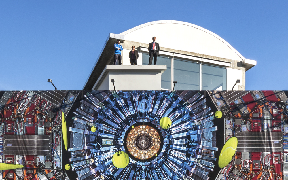 WILSON TOUR MAJESTIC, 2015 On the roof with Michael Hoch and Silvia Maselli of the CMS Experiment