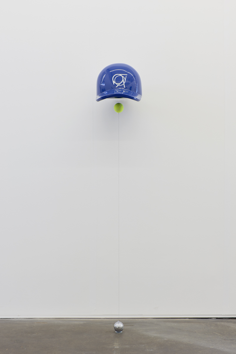 Metallic glass resin, neodymium magnets, adhesive reflector, wire, steel, tennis ball, 180x38x58 cm.