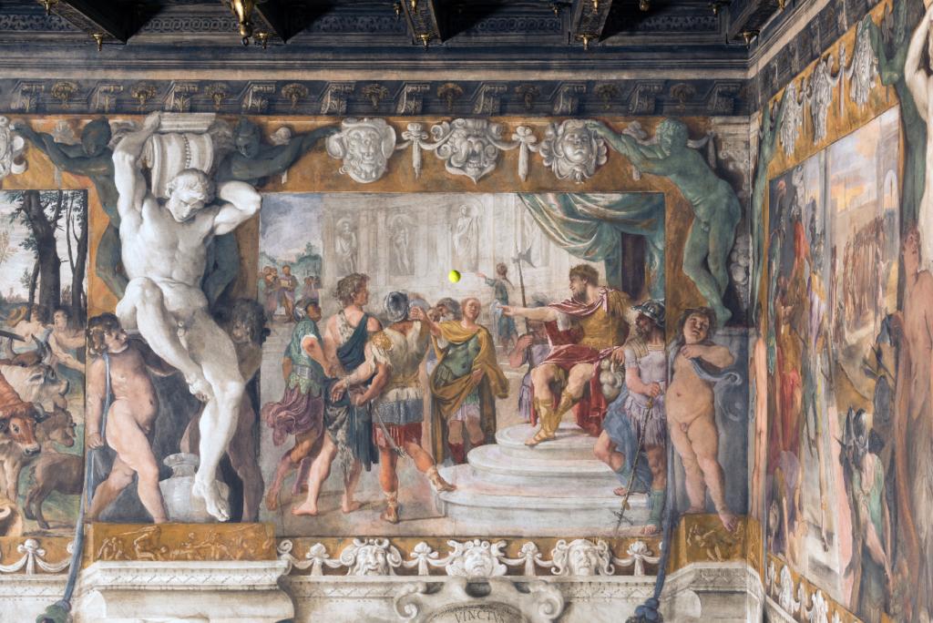 """Wilson Tour Carracci from """"Storie della fondazione di Roma"""" - Remo in catene al cospetto di Re Amulio"""