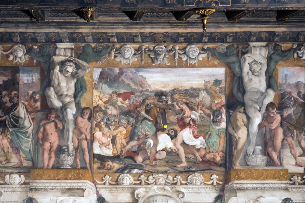 """Wilson Tour Carracci from """"Storie della fondazione di Roma"""" - Battaglia tra Romani e Sabini"""