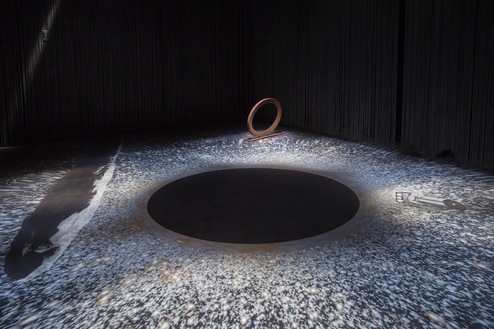 """Ellipse"" (detail) by Mauro Staccioli, 2010, at Teatro Elfo Puccini, Photo credit: Lorenzo Palmieri"