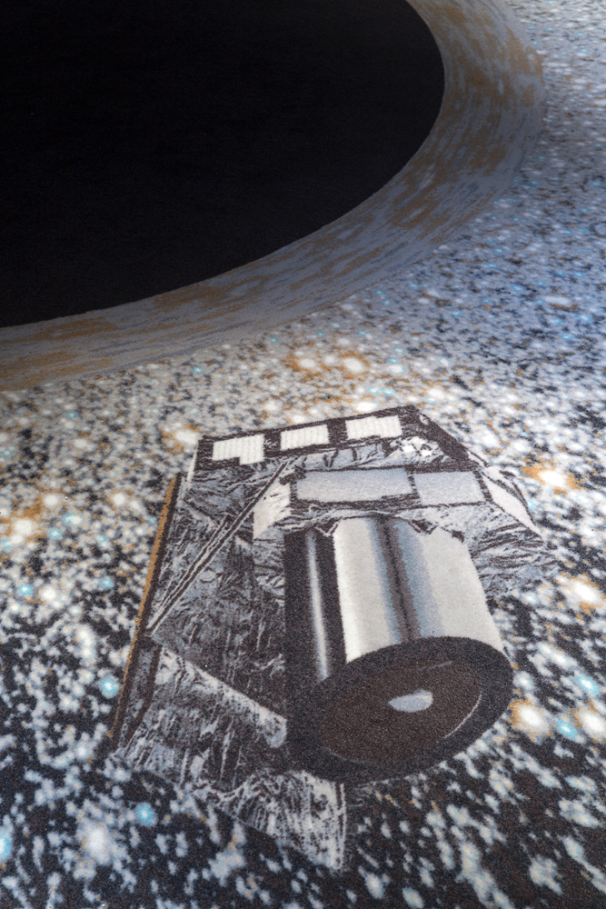 Euclid Spacecraft (detail) by ESA at Teatro Elfo Puccini, Photo credit: Lorenzo Palmieri